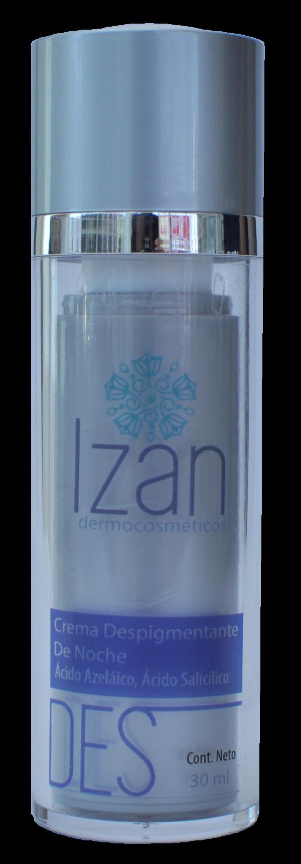 Crema despigmentante de noche IZAN Dermocosméticos productos